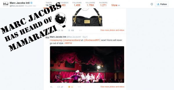 Marc Jacobs - has heard of mamarazzi